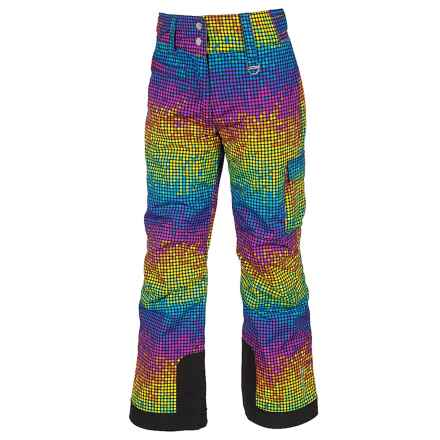 Sunice Zoe Tech Ski Pants - Waterproof, Insulated (For Big Girls) in Light Bright Print - Closeouts