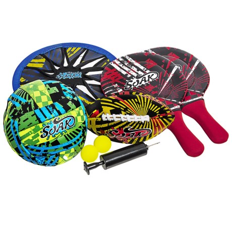 SUNLITE SPORTS Beach Game Combo Set in Blue/Green/Red/Orange