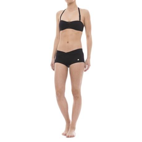 Sunseeker Bandeau Bikini Set - Boy Shorts (For Women)