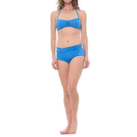 Sunseeker Bandeau Bikini Set - Boy Shorts (For Women) in Sur - Closeouts