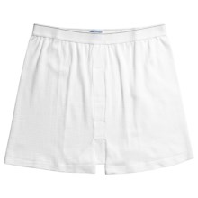 Sunspel Supima® Q14 Cellular Cotton Underwear Boxer Shorts - Q14 Cellular (For Big Men) in White - Closeouts