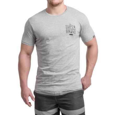 Superbrand Canyon Heather T-Shirt - Short Sleeve (For Men) in Grey - Closeouts