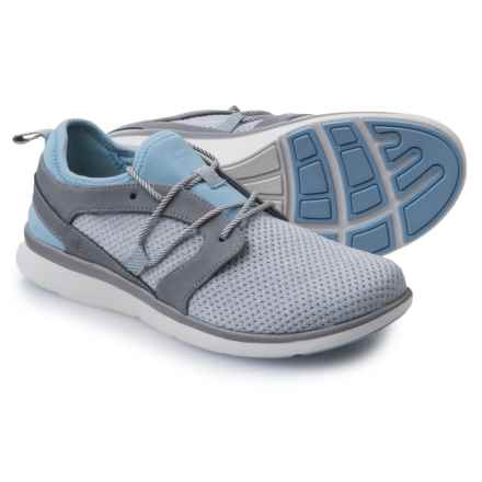 Superfeet Lora Mesh Asymmetrical Casual Sneakers - Lace-Ups (For Women) in Gray/Blue Bell