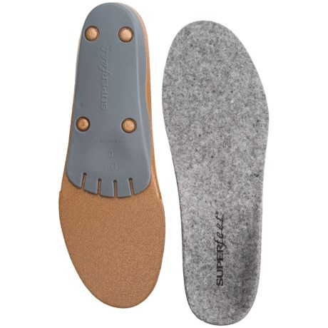Superfeet MerinoGREY Support Insoles - Merino Wool Top (For Men and Women) in See Photo