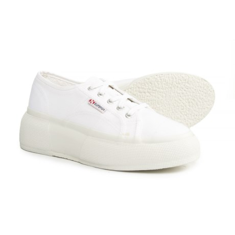 Superga 2287 Cotu Canvas Platform Sneakers (For Women) in White