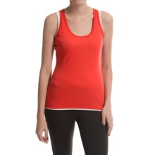 super.natural Double-Layer Tank Top - Merino Wool, Fully Lined (For Women) in Hibiscus/Latte - Closeouts