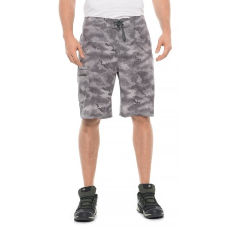 Image of Surf Print Boardshorts - UPF 50+ (For Men)