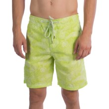 Surfside Supply Company Core Boardshorts - Paisley (For Men) in Lime/White - Closeouts