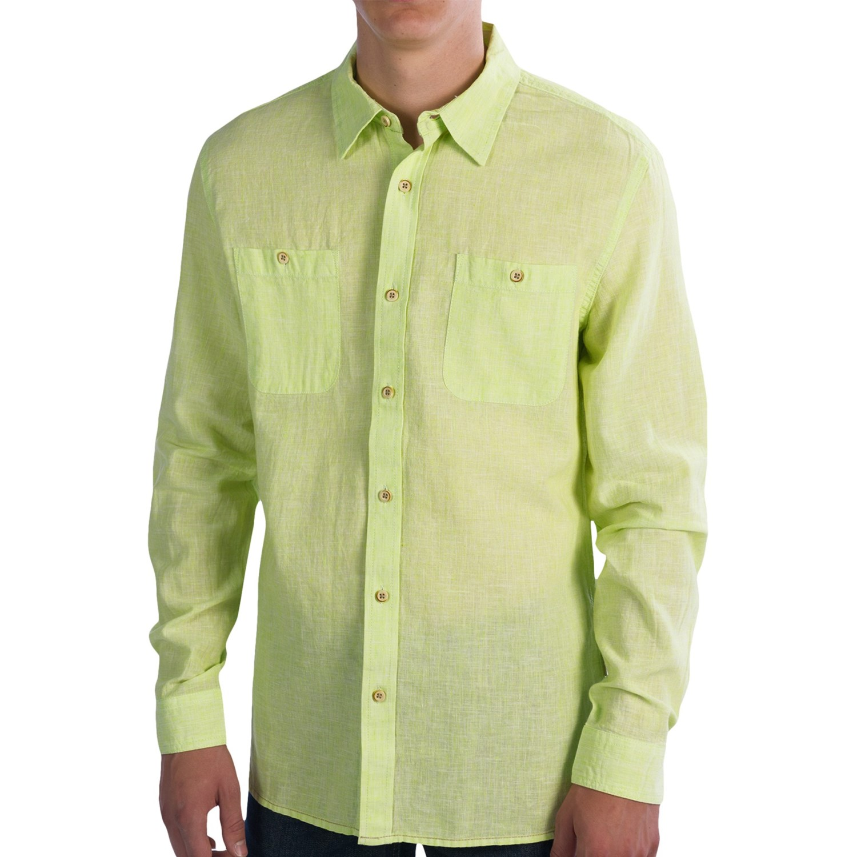 Tokyo laundry mens white long sleeve linen shirt share on for Linen long sleeve shirt