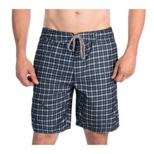 Surfside Supply Company Plaid Printed Boardshorts (For Men) in Blueberry - Closeouts