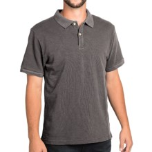 Surfside Supply Company Rick Slub Jersey Polo Shirt - Short Sleeve (For Men) in Charcoal - Closeouts