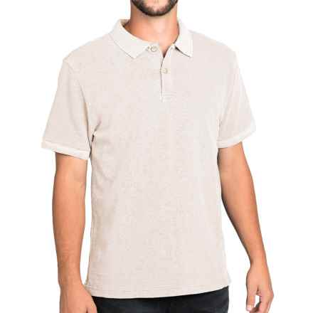 Surfside Supply Company Rick Slub Jersey Polo Shirt - Short Sleeve (For Men) in White - Closeouts