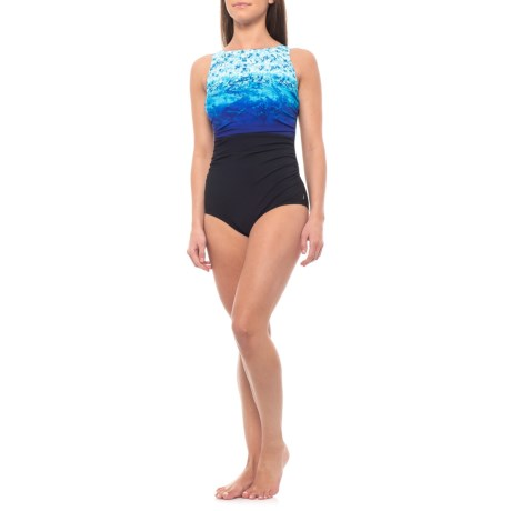 Surftastic High-Neck One-Piece Swimsuit (For Women)