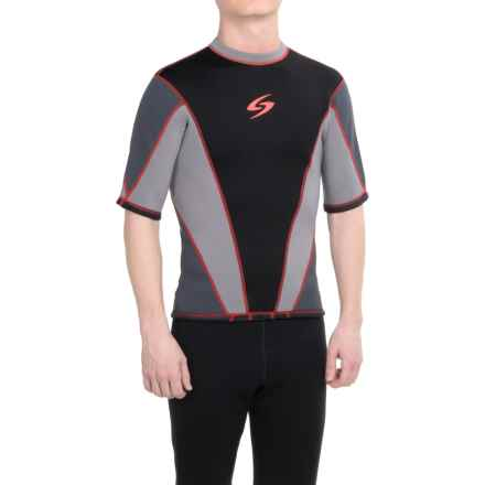 Surftech 1.5 mm Neoprene Shirt - Short Sleeve (For Men) in Grey/Red - Closeouts