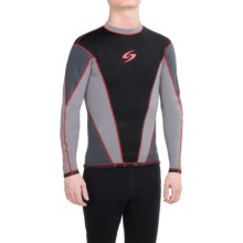 Surftech 1.5mm Neoprene Rash Guard - Long Sleeve (For Men) in Grey/Red - Closeouts