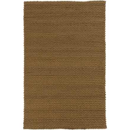 Surya Anchorage Braided Accent Rug - 2x3', Felted Wool in Olive - Closeouts