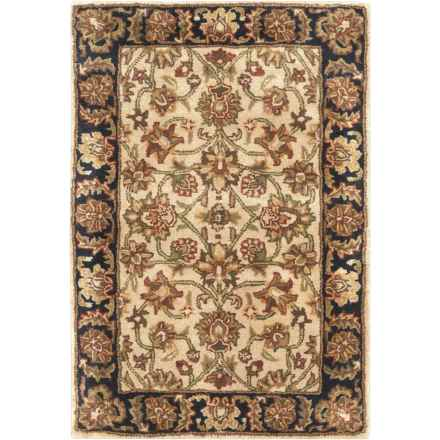 Surya Ancient Treasures Accent Rug - 2x3', Hand-Tufted Wool in Cream/Black - Closeouts