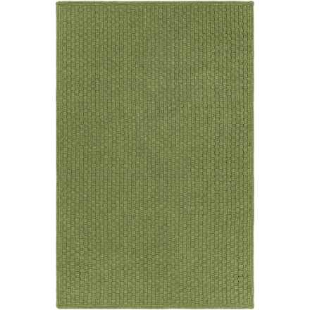 Surya Barcelona Indoor-Outdoor Area Rug - 4x6', Reversible in Dark Green - Closeouts