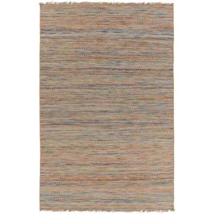 Surya Cove Reversible Area Rug - 8x10', Wool-Jute in Brigh Blue/Sky Blue - Closeouts