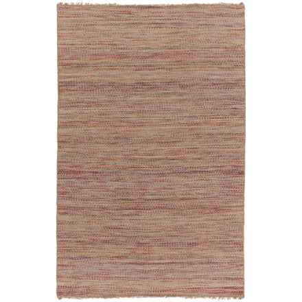 Surya Cove Reversible Area Rug - 8x10', Wool-Jute in Bright Pink/Beige - Closeouts