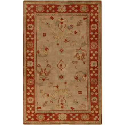 Surya Haven Accent Rug - 2x3', Hand-Knotted Wool in Beige/Burnt Orange - Closeouts