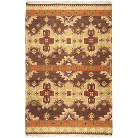 Surya Jewel Tone II Area Rug - 9x13', Handwoven Wool in Camel/Burnt Orange/Tasseled - Closeouts