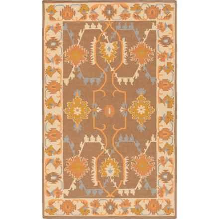Surya Jewel Tone II Wool Accent Rug - 2x3' in Dark Brown/Burnt Orange - Closeouts