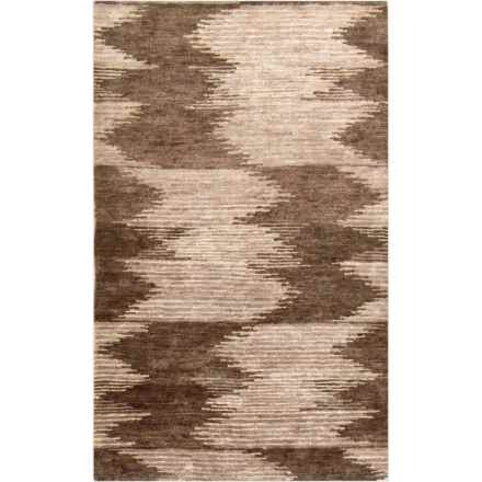 Surya Scarborough Accent Rug - 2x3', Hand-Knotted Wool in Black/Dark Brown - Closeouts
