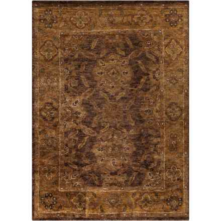 Surya Scarborough Area Rug - 8x11', Hand-Knotted Jute in Dark Brown/Camel - Closeouts
