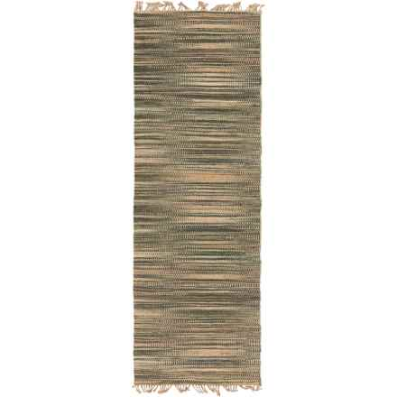 "Surya Woodstock Hemp Floor Runner - 2'6""x8' in Dark Brown/Dark Green - Closeouts"