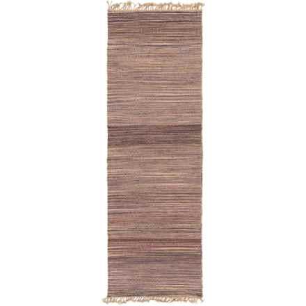 "Surya Woodstock Hemp Floor Runner - 2'6""x8' in Eggplant/Mauve - Closeouts"