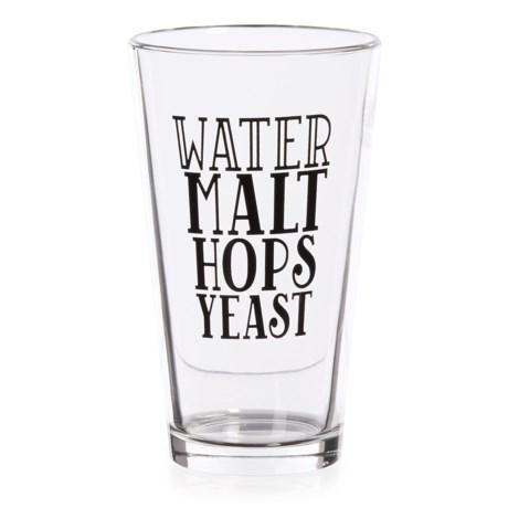 Susquehanna Beer Glass - 16 fl.oz. in Black