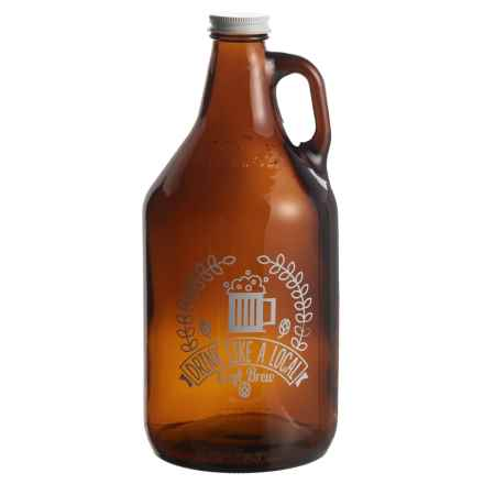 Susquehanna Glass Drink Like a Local Beer Growler - 64 fl.oz. in White - Closeouts