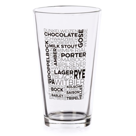 Susquehanna Glass Types of Beer Beer Glass - 16 fl.oz. in Black