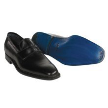 Sutor Mantellassi Hand-Stitched Penny Loafer Shoes (For Men) in Black - Closeouts