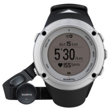 Suunto Ambit2 Silver Sport Watch - Integrated GPS, Heart Rate Monitor in Silver - Closeouts