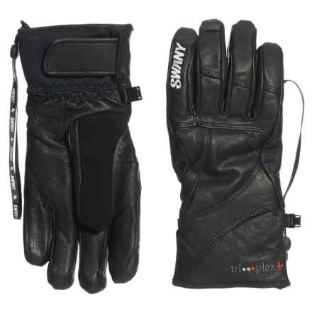 Swany Black Hawk Under Gloves - Insulated, Leather (For Men) in Black - Overstock