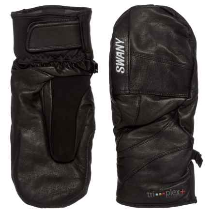 Swany Blackhawk Tri-plex+ Mittens - Waterproof, Insulated, Leather (For Men) in Black - Overstock
