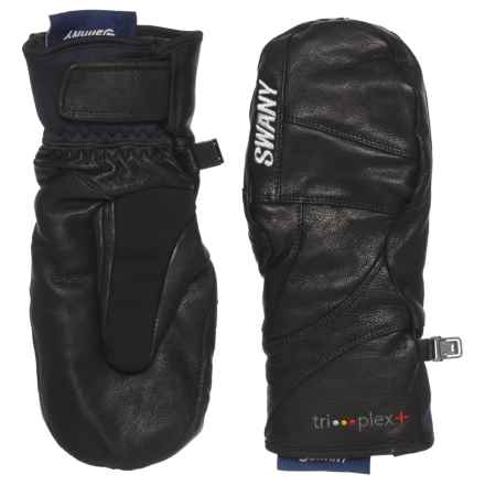 Swany Blackhawk Tri-plex+ Mittens - Waterproof, Insulated, Leather (For Women) in Black - Overstock