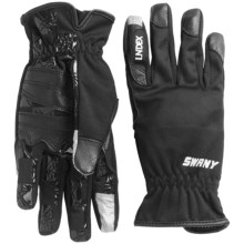 Swany I-Finger Gloves - Leather Palm, Touchscreen Compatible (For Women) in Black - Closeouts