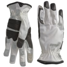 Swany I-Finger Gloves - Leather Palm, Touchscreen Compatible (For Women) in Light Grey - Closeouts