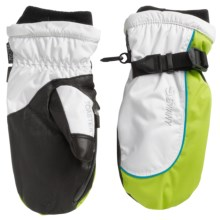Swany Softy Mittens - Insulated (For Women) in White/Lime - Closeouts