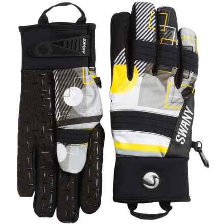 Swany The Jam Gloves - Waterproof, Insulated (For Men) in Black/Yellow - Closeouts