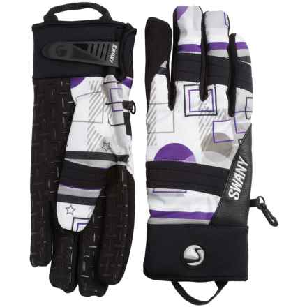 Swany The Jam Gloves - Waterproof, Insulated (For Men) in White/Purple - Closeouts