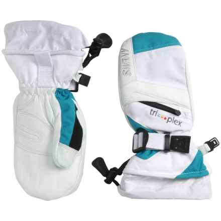 Swany X-Change Junior Mittens (For Kids) in White/Aqua - Closeouts