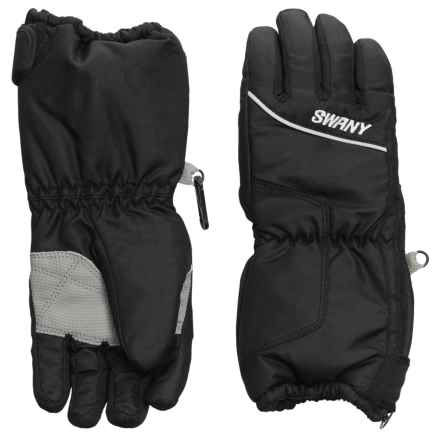 Swany Zippy Gloves - Waterproof, Insulated (For Kids) in Black - Overstock