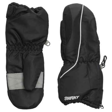 Swany Zippy Mittens - Waterproof, Insulated (For Kids) in Black - Overstock