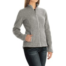 Sweater-Knit Fleece Jacket (For Women) in Ivory Heather - 2nds