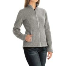 Sweater-Knit Fleece Jacket (For Women) in Ivory Heather - 2nds