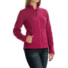 Sweater-Knit Fleece Jacket (For Women) in Magenta Rose Heather - 2nds